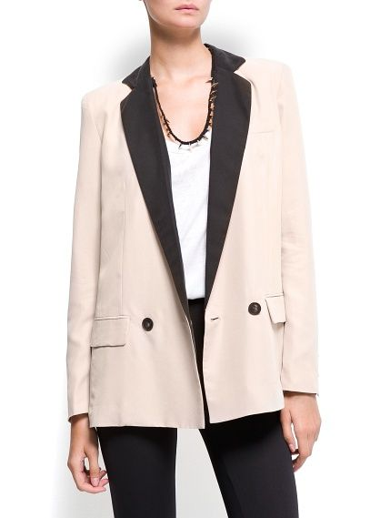 Mango  Smoking Masculine-Cut Blazer