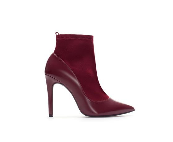 Zara  High Heel Combination Ankle Boots