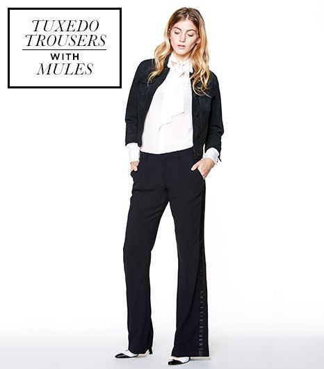 With louche, floor-grazing pants, height in the shoe is key. A wide leg or flare trouser needs at least 3 1/2 inches to balance the volume. Plus, it will give you legs for days. Stay away...