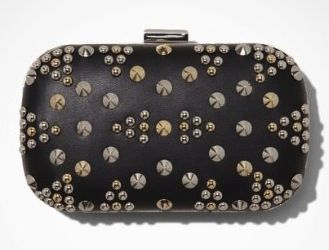 Express  Studded Pattern Hard Case Clutch