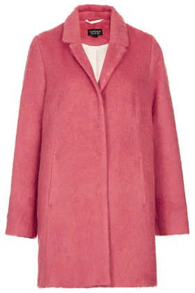 Topshop  Fluffy Swing Boyfriend Coat