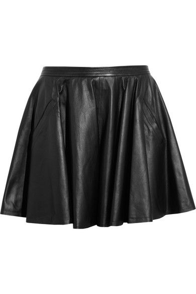 Chalayan  Leather Skater Skirt