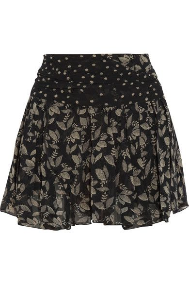 Etoile Isabel Marant  Prune Printed Georgette Mini Skirt
