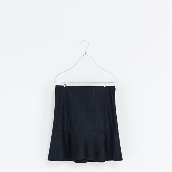 Zara  Pinstripe Mini Skirt