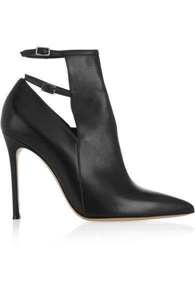 Gianvito Rossi  Pointe Leather Ankle Boots