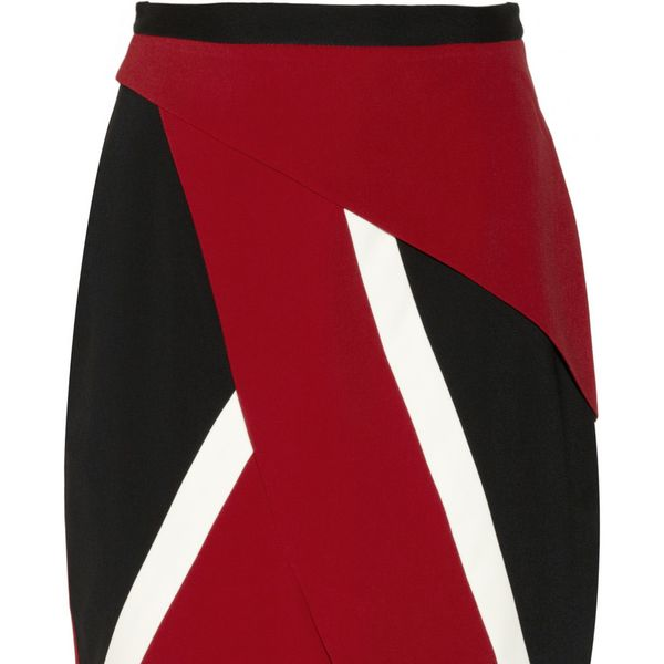 Peter Pilotto  Farah Wrap-Effect Crepe Skirt