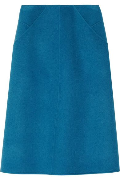 Jil Sander   Poesia Double-Faced Wool-Fleece Skirt