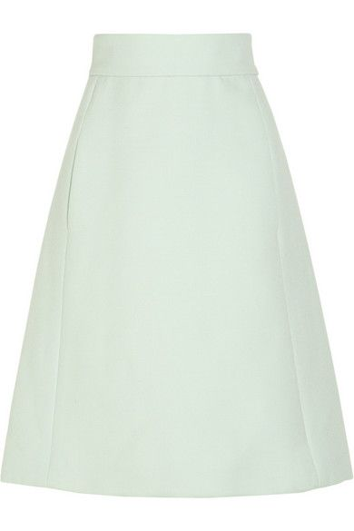 Chloe  High-Waisted Wool A-Line Skirt