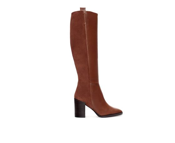 Zara  Combination Suede Boots