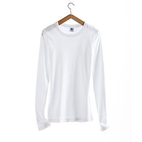 Petit Bateau  Petit Bateau Women's Long-Sleeved Tee in Plain Vintage Cotton