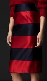 Burberry Burberry Duchess Silk Satin Pencil Skirt