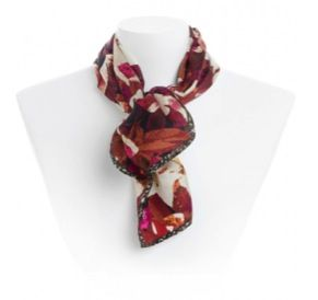 Echo Design  Echo Design Floral & Tweed Square Scarf