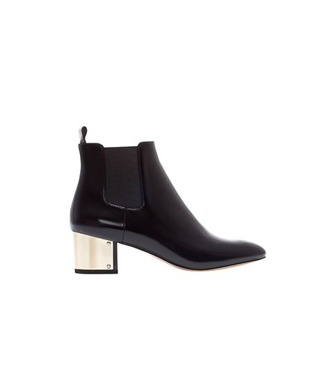 Zara Metal Heel Ankle Boot