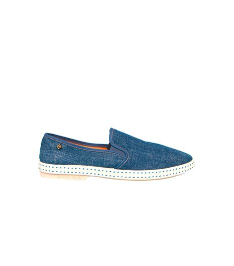 Rivieras Leisure Shoes Denim Jean Leisure Slip-Ons