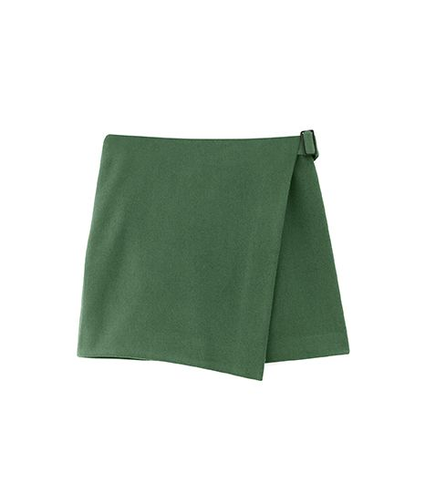 Kate Spade Saturday Buckle-Over Mini Skirt