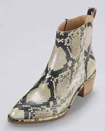 Cole Haan  Reilly Short Snake-Print Boots