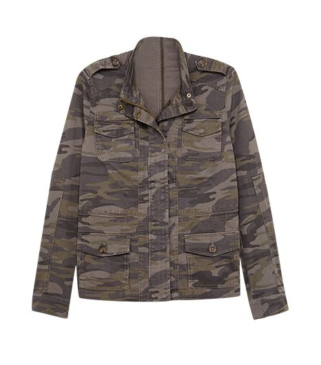 Express Camouflage Stretch Cotton Jacket
