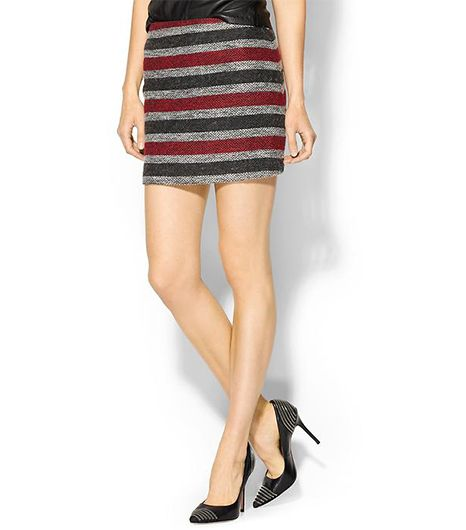 Hive & Honey Tweed Stripe Skirt