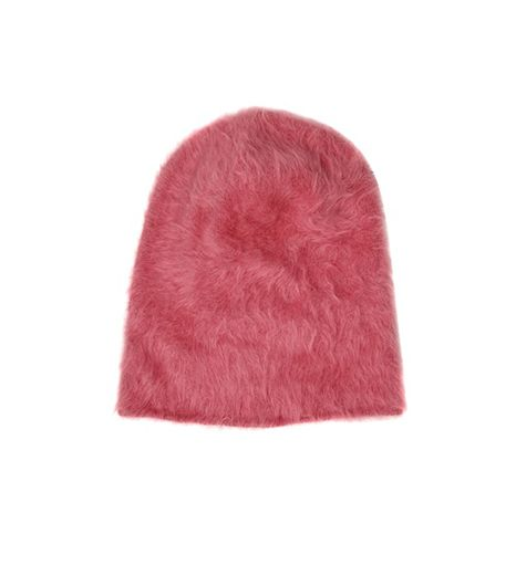 Andrea Pompilio Rabbit Fur Beanie Hat