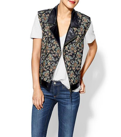 Rhyme Los Angeles Tapestry Vegan Leather Vest