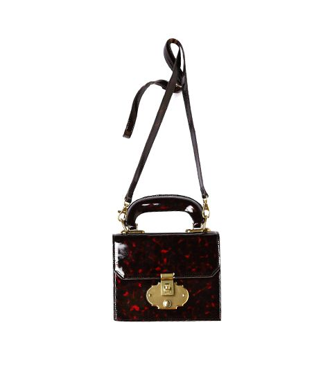 Anthropologie Glossed Mini Satchel