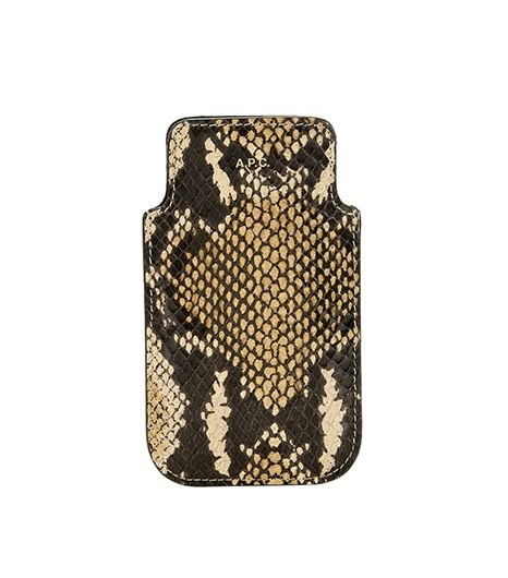 A.P.C. Snakeskin Leather iPhone Case
