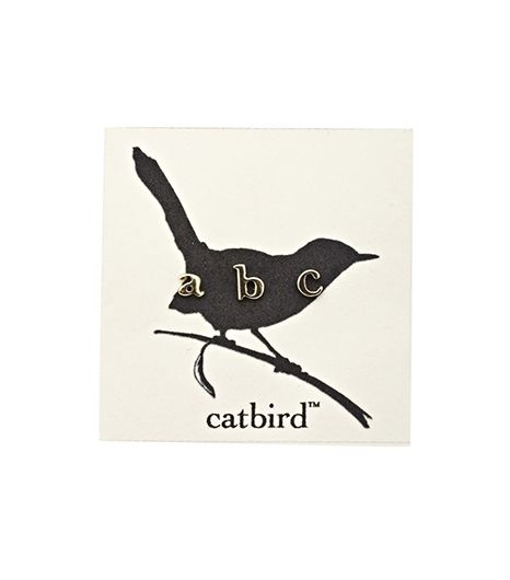 Catbird Alphabet Earrings
