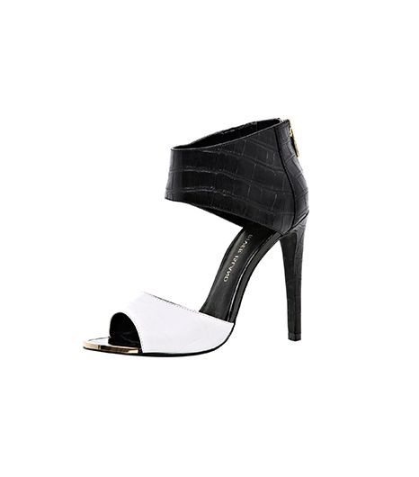 River Island Black Two-Tone Ankle Cuff Sandals