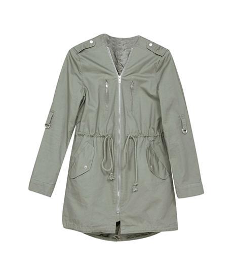 Mikkat Market Collarless Drawstring Utility Jacket