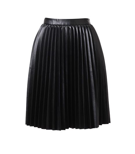 Ruche Take A Chance Pleasted Leatherette Skirt