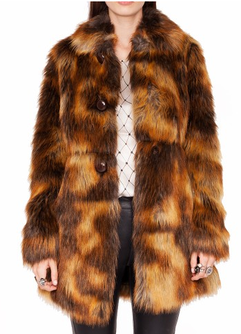 Pixie Market  Faux Fox Fur Coat
