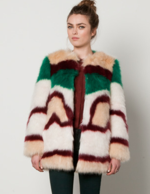 Maison Scotch  Fake Fur Coat