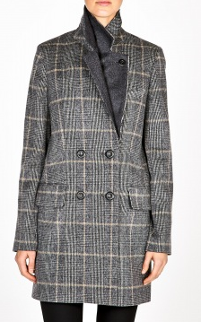 Vanessa Bruno  Prince of Wales Check Wool Coat