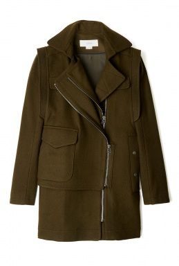 O'2ND   Felt Detachable Sleeve Military Coat