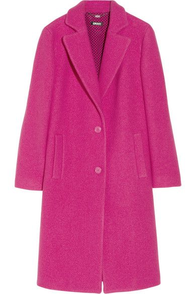 DKNY  Textured Wool Coat