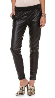 Blank Denim  Slouchy Vegan Leather Trousers