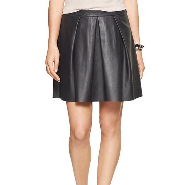 Gap  Gap Pleated Leather Mini Skirt