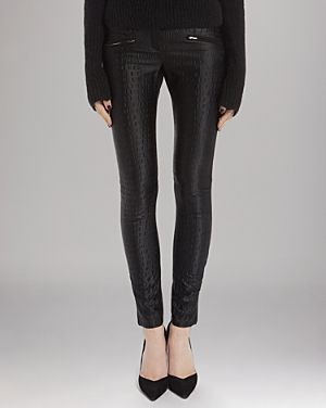 Maje  Combo Skinny Embossed Detail Pants