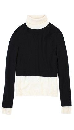 Tibi  Color Block Turtleneck
