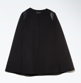 Joseph  Capon Leather-Trimmed Cashmere Cape