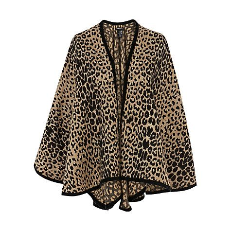 Warehouse  Animal Print Cape
