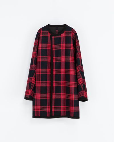 Zara  Checked Studio Cape