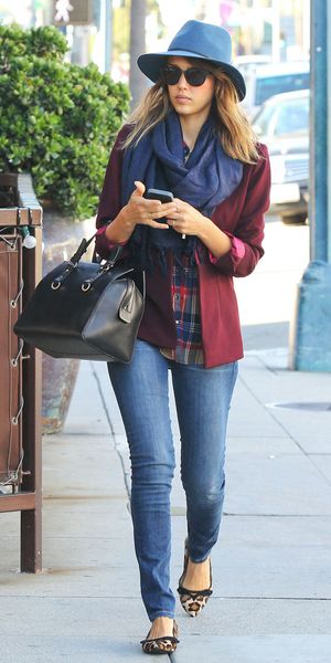 Jessica Alba steps out in Los Angeles.