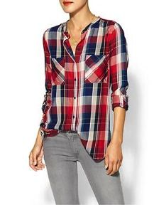 C&C California  Plaid Two Pocket Shirt