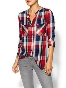 C&C California  Plaid Two Pocket Shirt