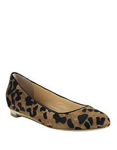 Cole Haan  Astoria Leopard Printed Haircalf Flats