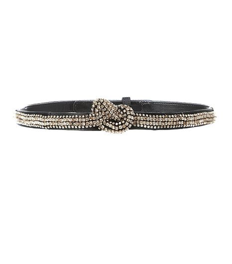 Stella McCartney Crystal-Embellished Satin Belt