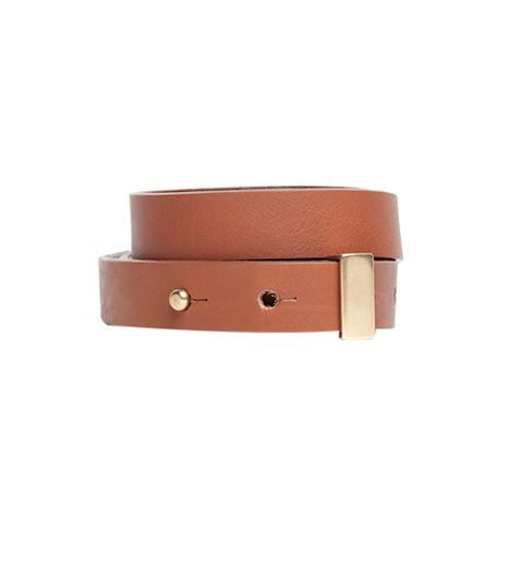 Everlane The High-Low Belt in Rhum