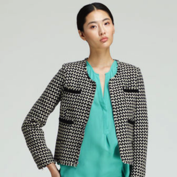 Joie  Lyris Cropped Houndstooth Jacket