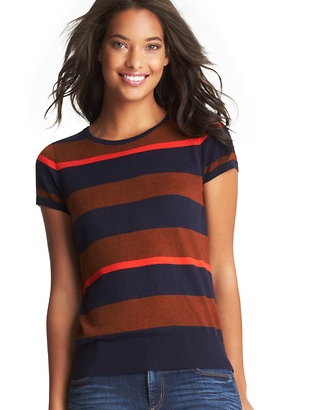 LOFT  Tri Stripe Sweater Tee